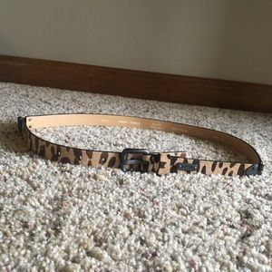 Fossil animal print belt